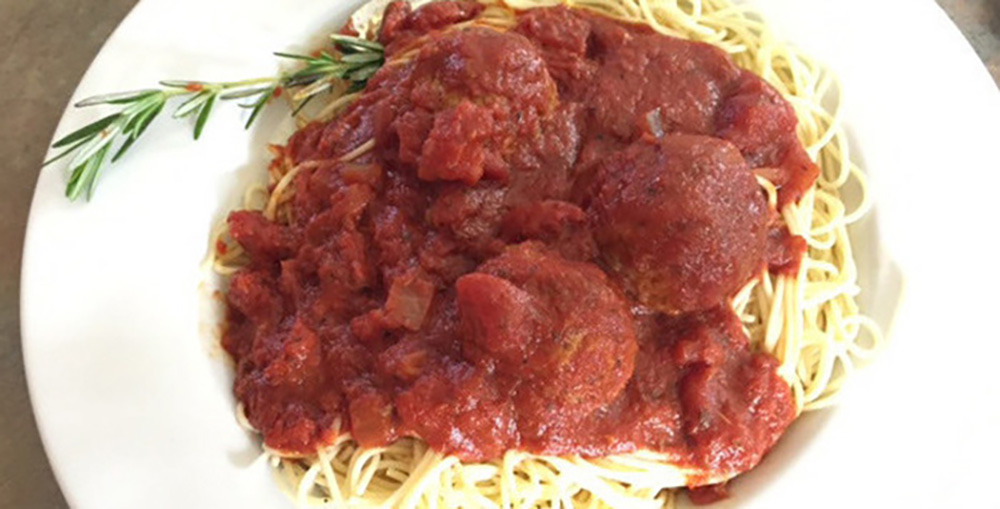 Draganetti's Spaghetti with Meatballs